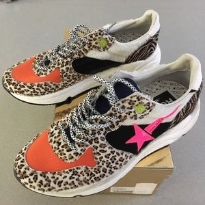 Golden Goose Running Sole Zoo Puzzle Pink Star NIB